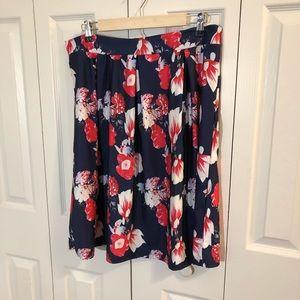 NWOT Floral Circle Skirt